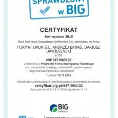 BIG-certyfikat